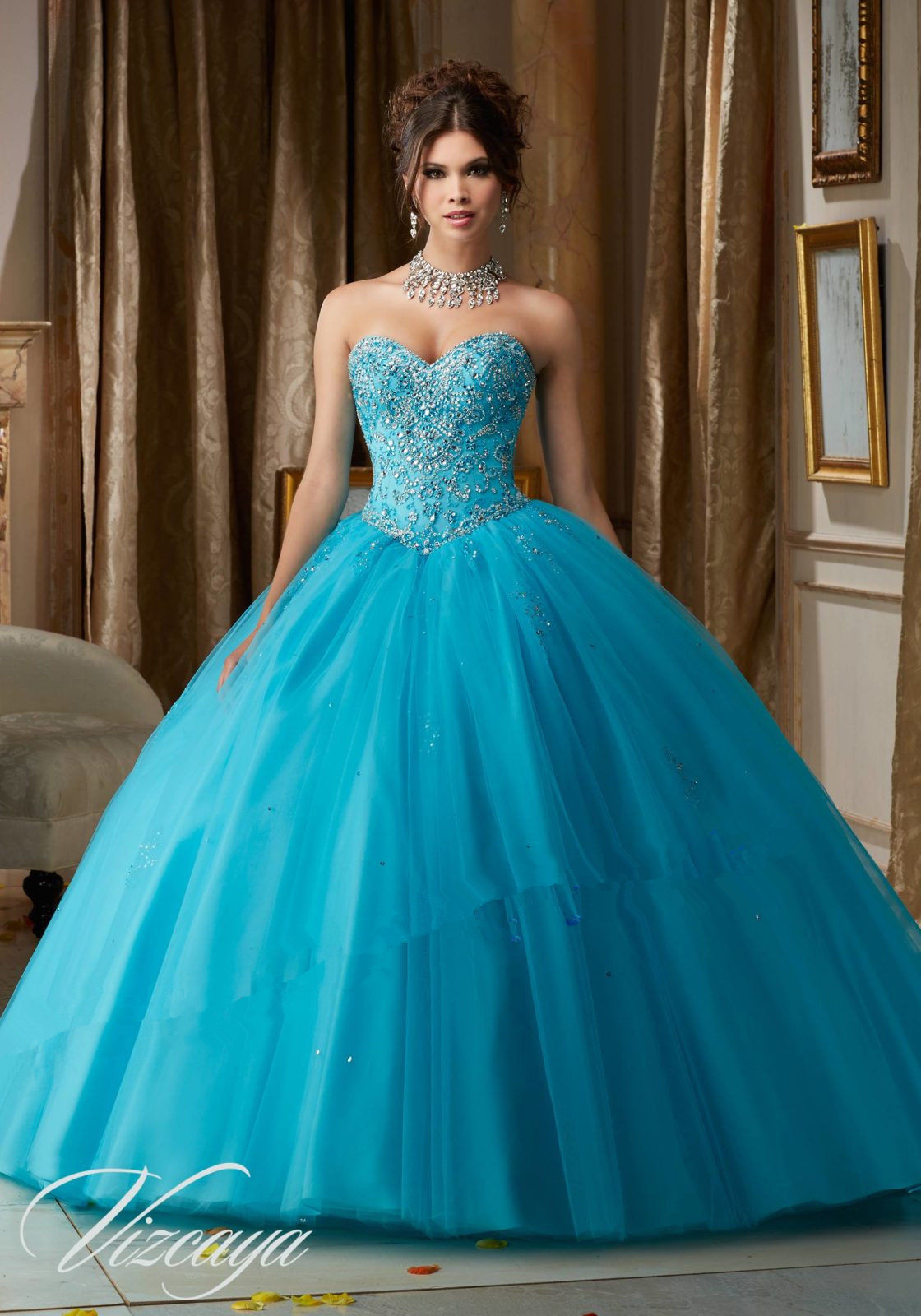 New Fashion Beaded Quinceanera Dress Formal Prom Party Wedding ...
