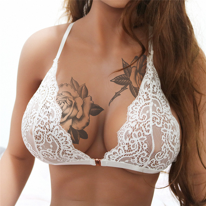 0e08df75ac Women s Lace Bra Floral Soft Bralette Seamless Lingerie Bras Adjustable  Back New