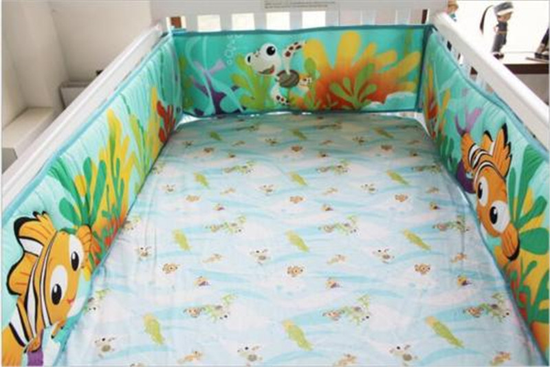 6pcs Set 3d Finding Nemo Fish Baby Crib Nursery Bedding