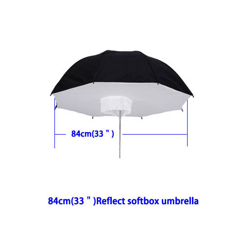 "Reflective Umbrella Softbox: 84cm/33"" Black & Silver Reflective Umbrella Softbox For"