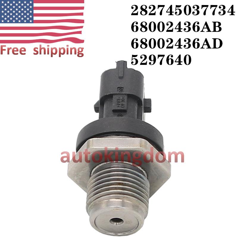 New 6.7L Fuel Rail Pressure Sensor  5297640 For Dodge Cummins Diesel 2007.5-2012