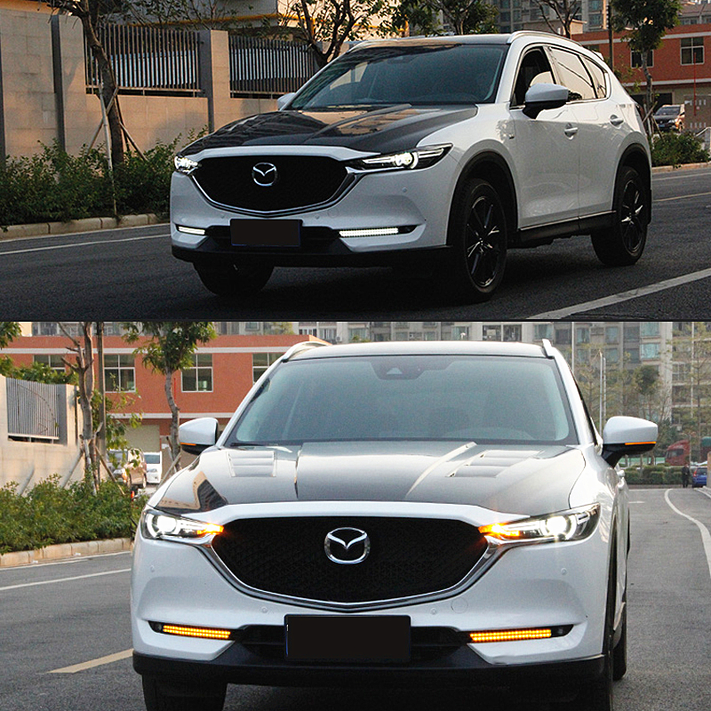 Details About 2x Led Daytime Running Drl White Lights For Mazda Cx 5 2017 2018