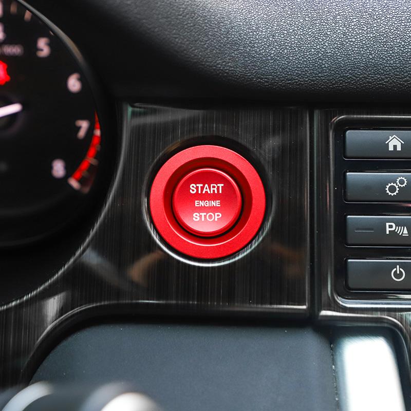 Aluminum Start Stop Ignition Cover Trim For Jaguar XF F-PACE E-PACE 2016-2018