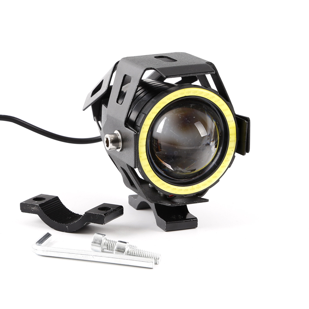 2pc 125w Motorcycle Headlight Cree U7 Led Projector White Eyes Headlamps Wiring Diagram Harness