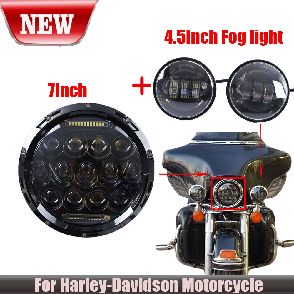 7 75w phillips led headlight passing light for harley davidson rh ebay com Philips Electronics Manuals Philips User Guides Speaker Bt7900