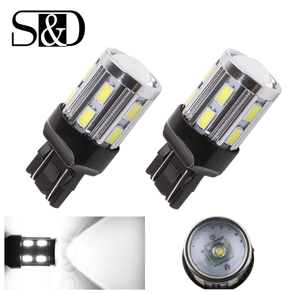 2x T20 W21//5W 7443 7440 33SMD Car Backup Reverse LED Light Bulbs White 6000K AU