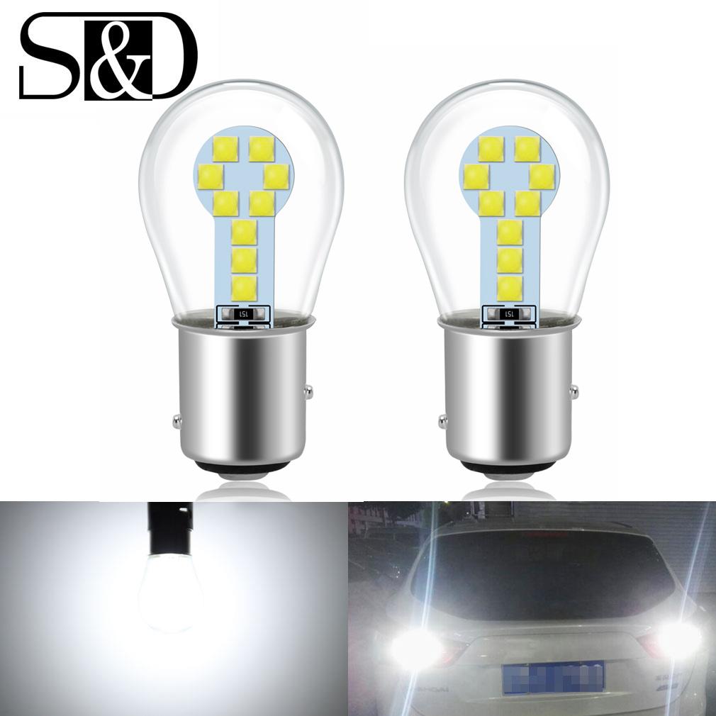 2x 1157 BAY15D Super White Bright 100W LED Tail Stop Brake Light Bulbs