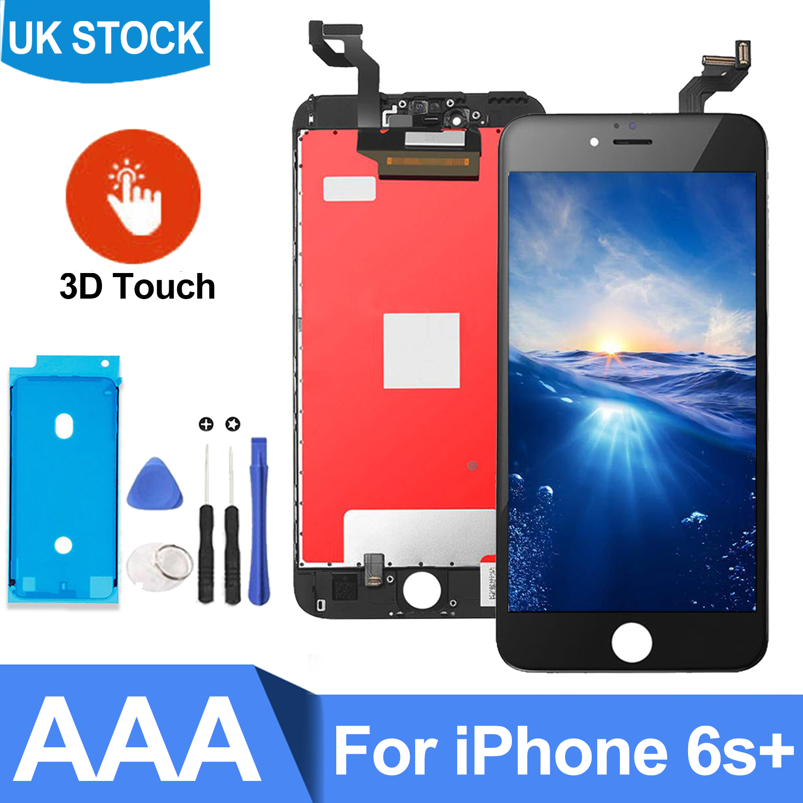 quality design 9eb9a 50b69 For iPhone 6s Plus LCD Digitizer Screen Replacement Black Genuine IC ...