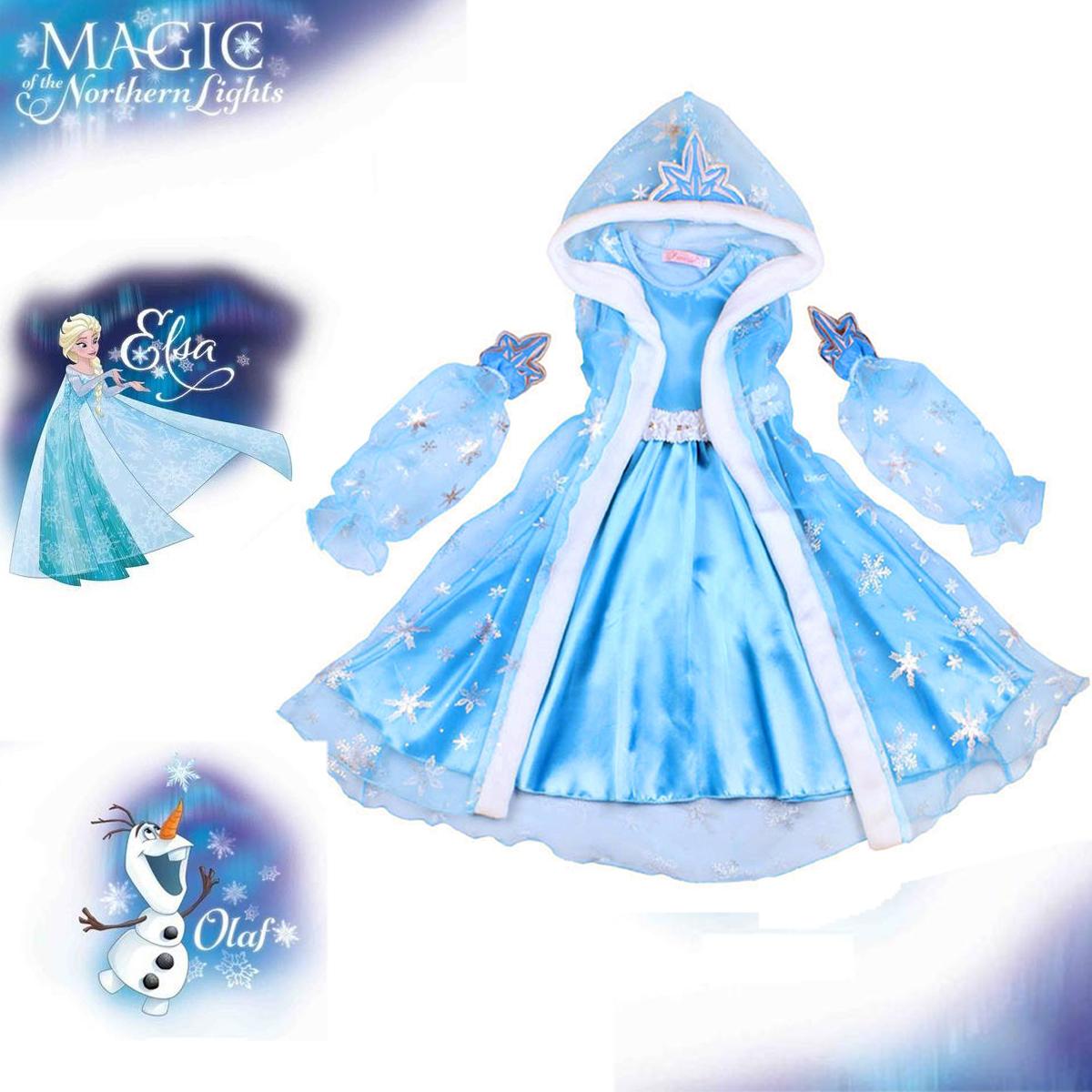 Girls Kids Princess Costume Dress Fancy Dress Up Fairytale Party Cosplay Gift UK