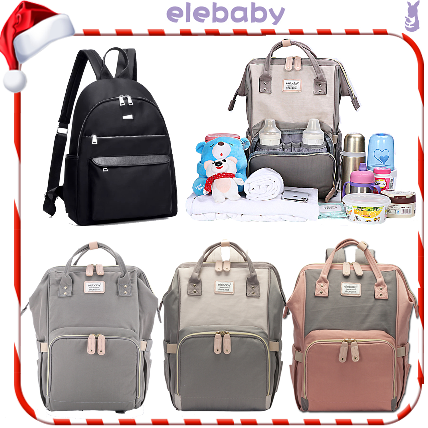 Large Mummy Multifunctional Baby Diaper Nappy Backpack Mom Travel Bag//school bag