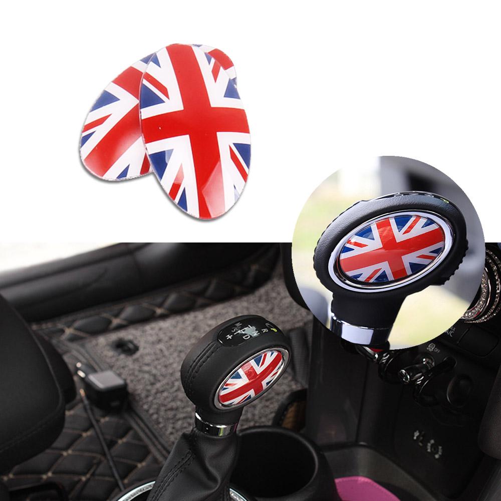 Union Jack Automatic Shift Knob Trim Covers Stickers For MINI Cooper F55 F56,etc
