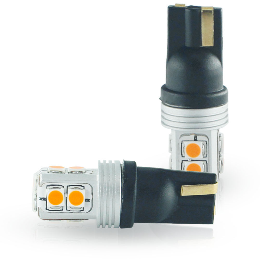 No Hyper Flash Amber Led Side Mirror Light Bulbs For 2007