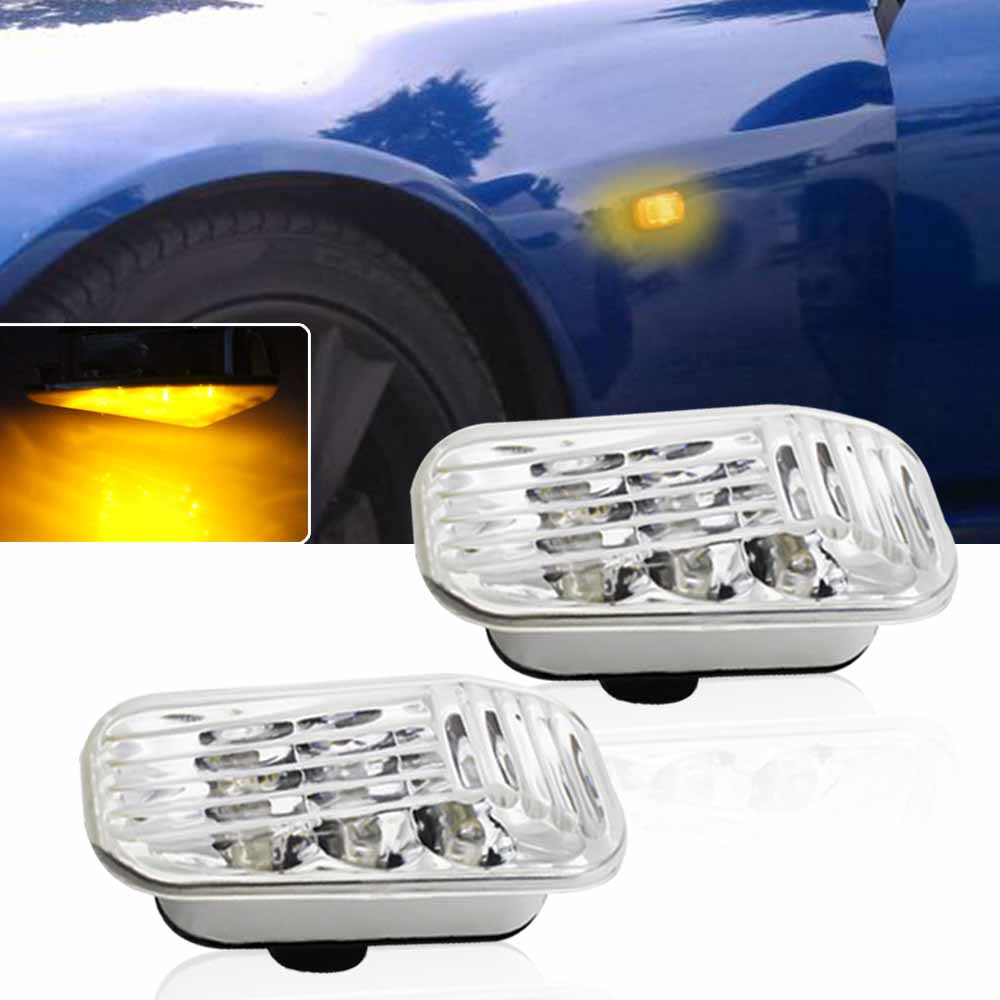 Clean Lens Amber LED Side Marker Lights For Honda Accord