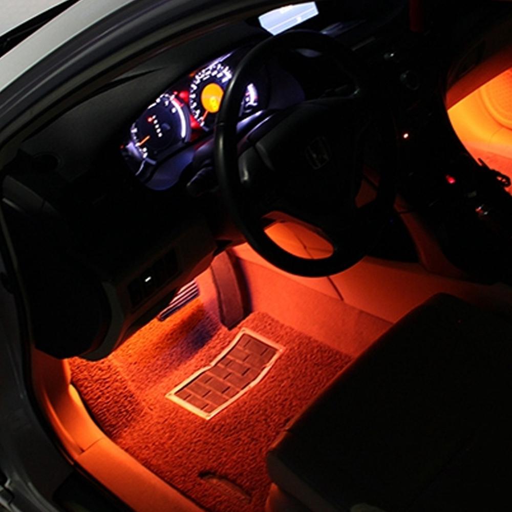 4x Orange LED Car Interior Under Dash Foot Lighting Kit LED Accent Lights 4 x 6  & 4x6