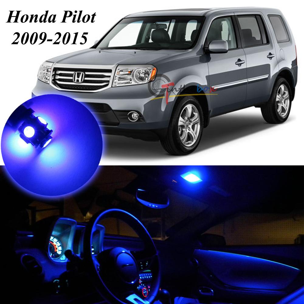15pcs For 2009 2015 Honda Pilot Interior 5050 SMD Blue LED Light Bulbs  Package