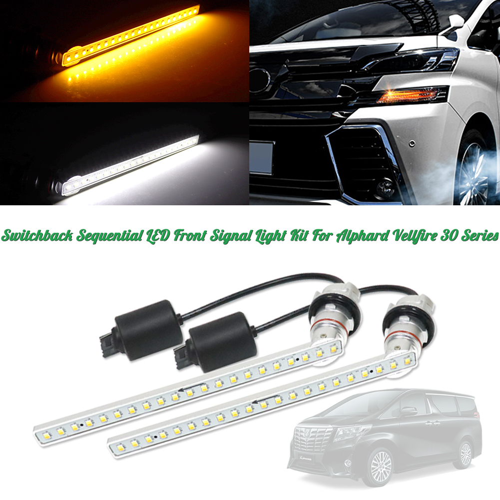 Switchback Led Drl Front Turn Signal Lights Kit For