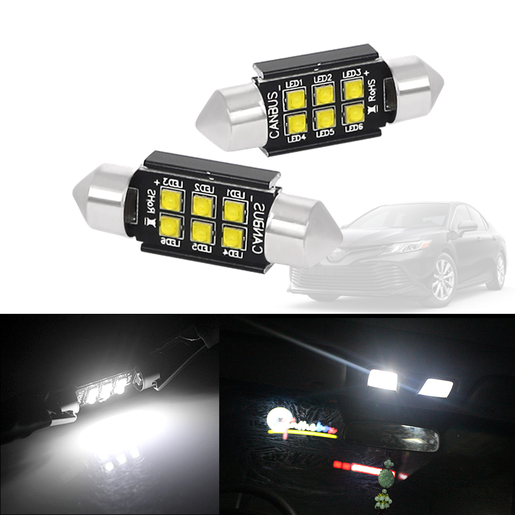 2x 3 SMD LED 39MM 239 C5W XENON WHITE INTERIOR LIGHT FESTOON NUMBER PLATE BULB DOME LAMP