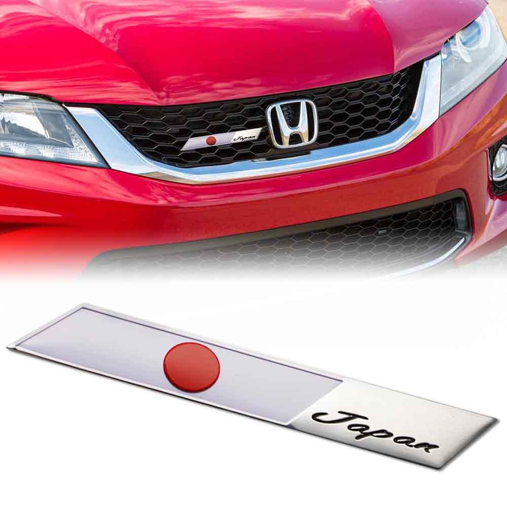 Japan Japanese Flag Stripe Aluminum Emblem Badge Car Front ...