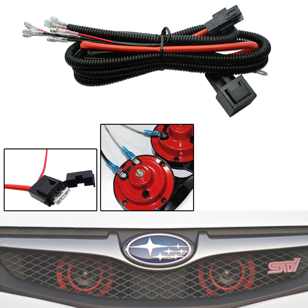 Fit Car Truck Grille Install Blast Tone Horns 12v Horn Wiring Relay Harness Kit For Mount