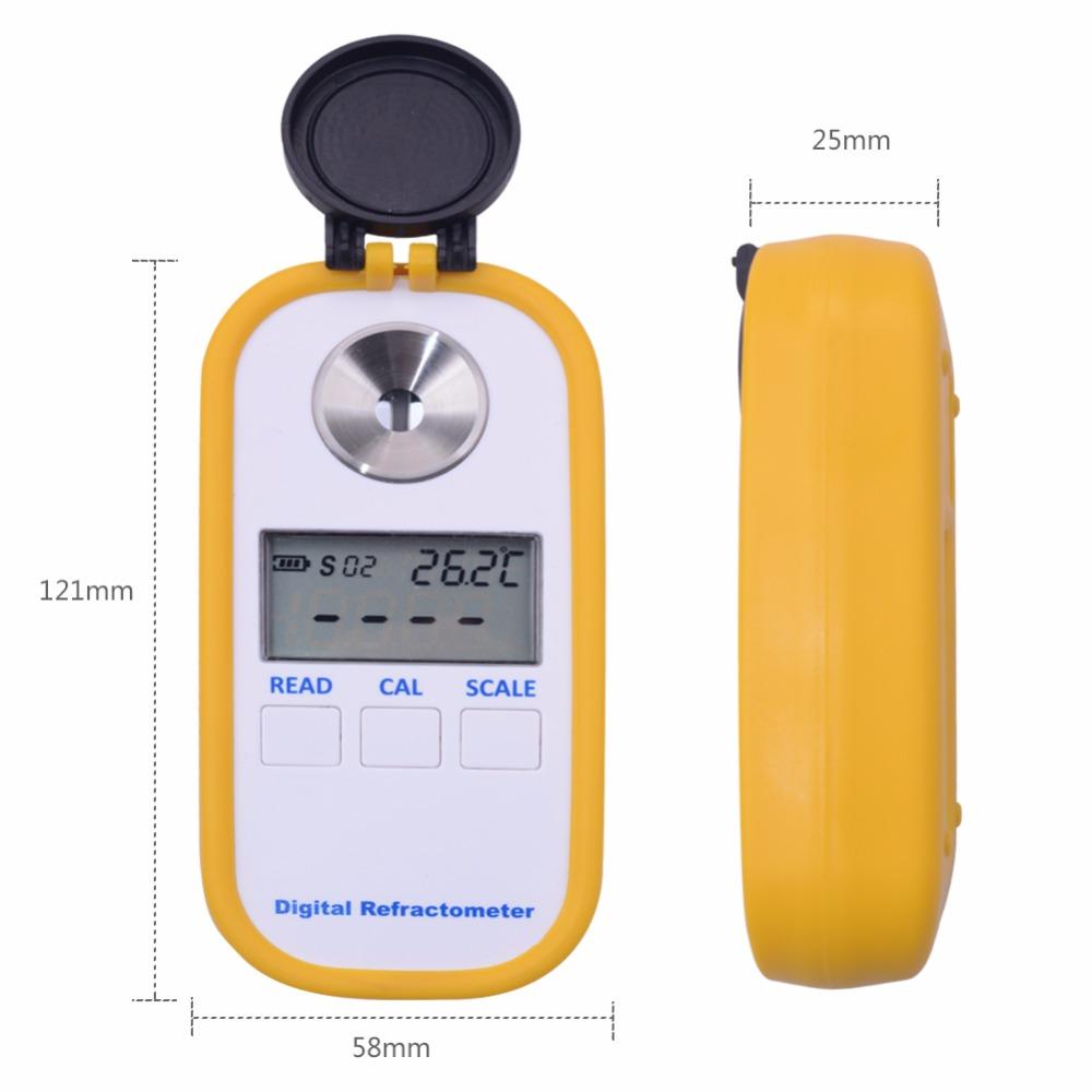 Details about 0-50% digital beer refractometer Handheld Refractive beer  Index Refractometer