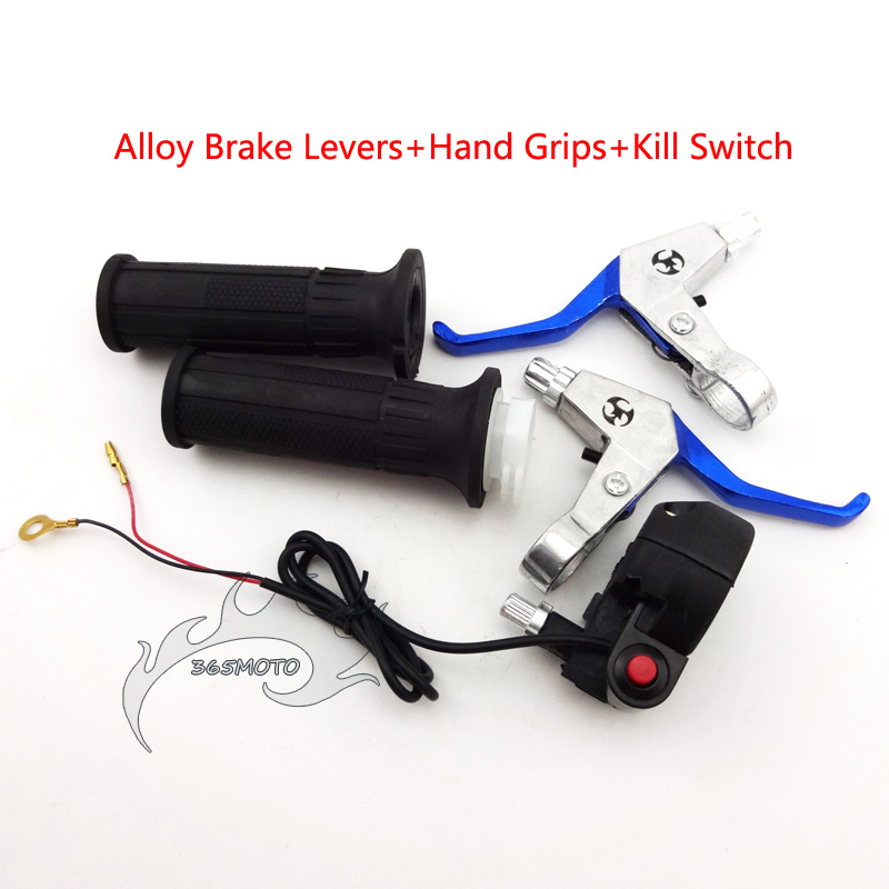 Electric Scooter Bike Twisting Throttle Cable Handle Grip Handlebar Set Supplies