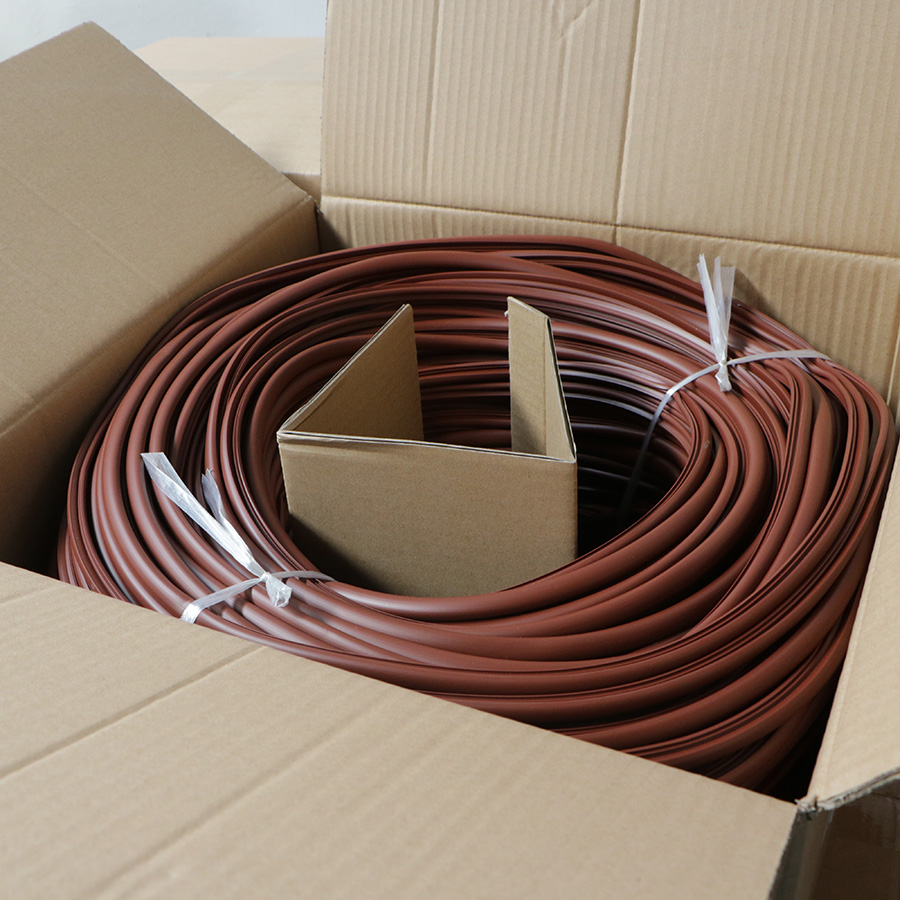 Push Fit timber Window Gasket Door Seal Strip Brown or White Draught Excluder