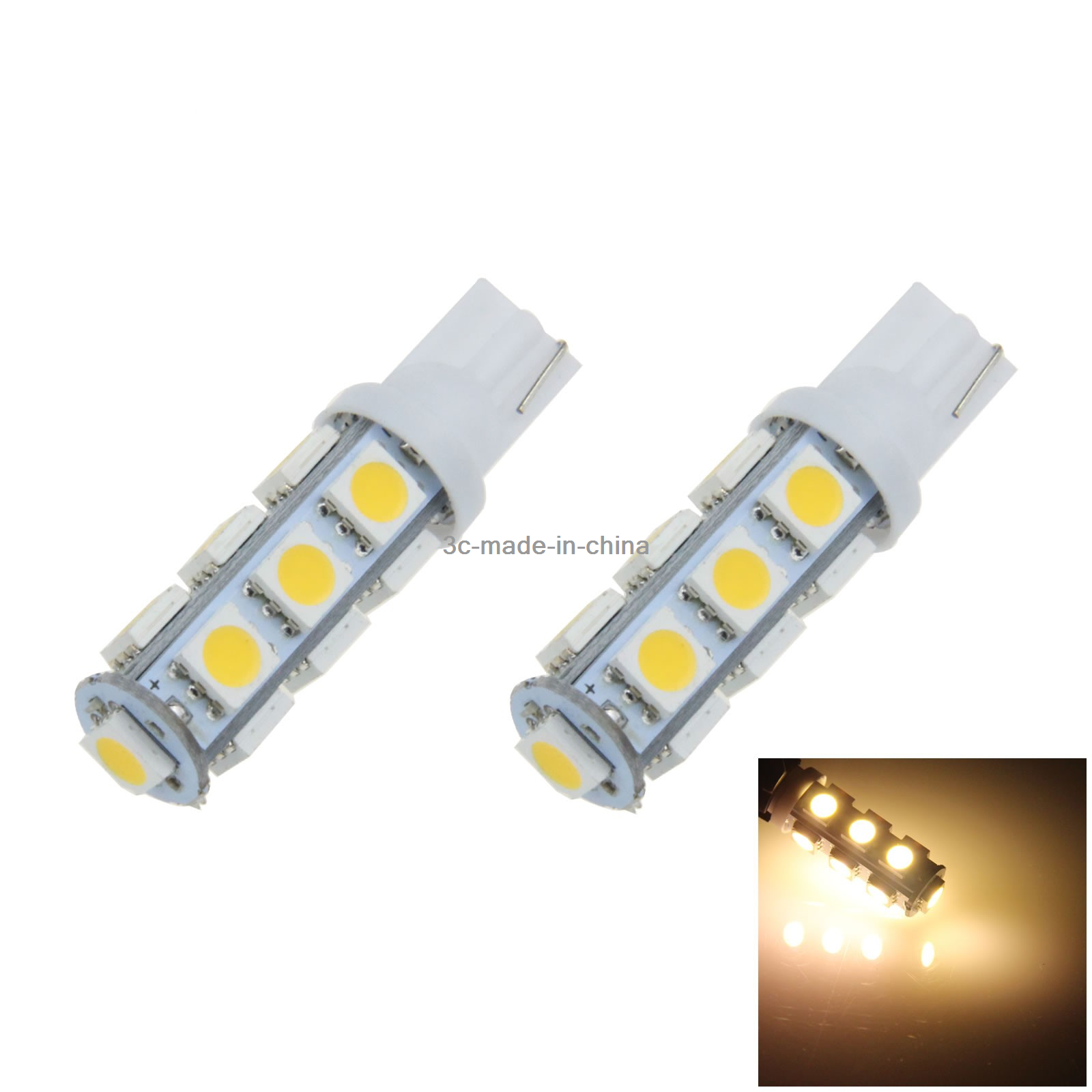 10x Warm white Car T10 W5W Roof Bulb License Plate Lamp 10 5630 SMD LED A058