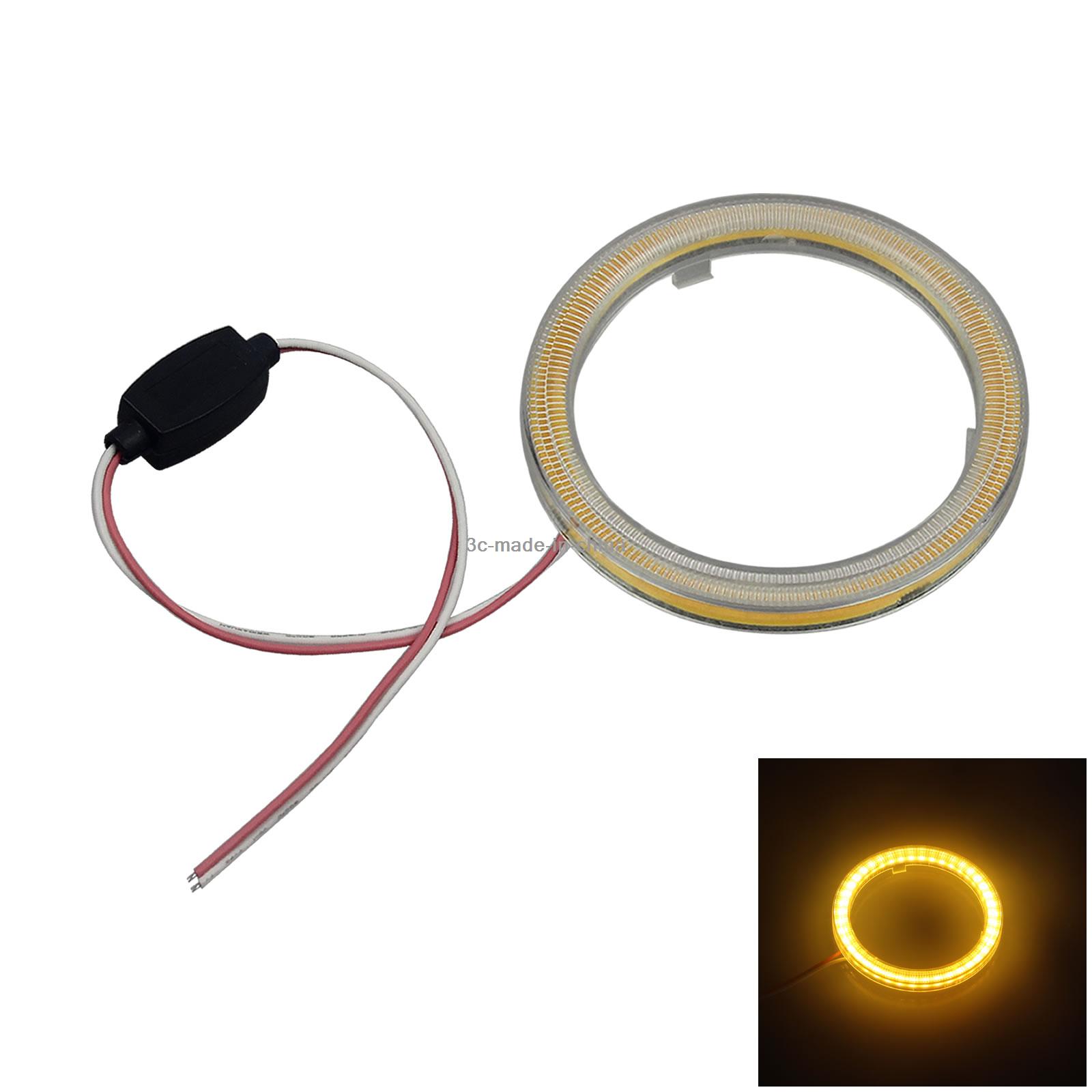 2x Blue Rv Angel Eye Halo Rings Lamp Driving Light 80MM 24 2835 LED Z5173