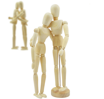Artist Movable Limbs Wooden Figure Model Mannequin Art Class Draw Sketch Paint