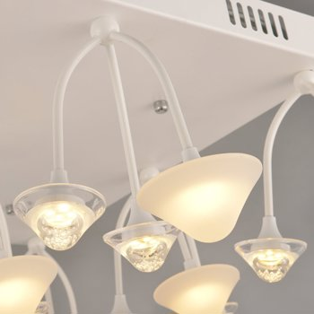 NATSEN LED Ceiling Lights 54W Modern Ceiling Light Fixture Semi ...