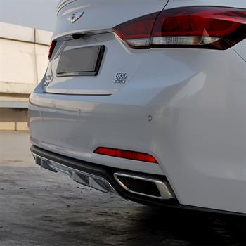 New M/&S Black Matte Rear Bumper Diffuser for Hyundai Genesis Sedan 15-16