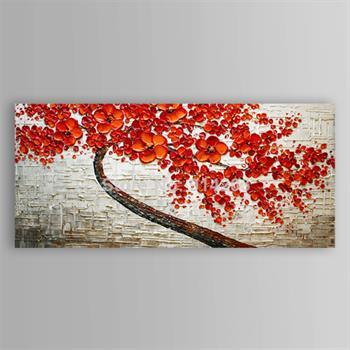 Sthetische Wohnzimmer Dekor Rot Floral Baum Abstrakte Moderne Lgemlde Auf Leinwand