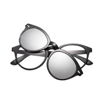 DE Rahmen Brille Mit Clip-on Magnetisch Linsen Sonnenbrille Polarisiert UV400 gszew