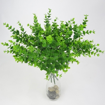 ... Flowers Money Leaves Wedding Home Decor. Source · Sanwood 1 Pc 7 Branches Green Artificial Fake Plastic Eucalyptus Source · Green Artificial Fake Small