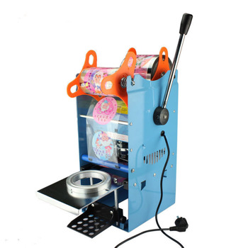 220V 300W Electric Automatic Tea Cup Sealer Sealing Machine Bubble 450Cups hour